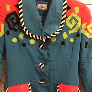 Jackets & Blazers - 1980's Multi Colored Blazer